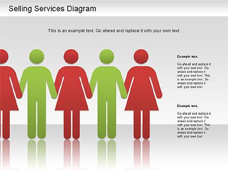 Selling Services Diagram, Slide 12, 01201, Business Models — PoweredTemplate.com