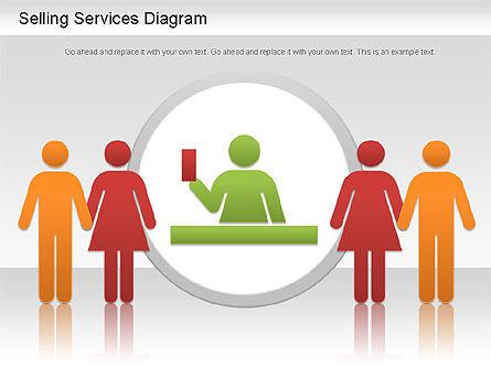 Selling Services Diagram, Slide 4, 01201, Business Models — PoweredTemplate.com