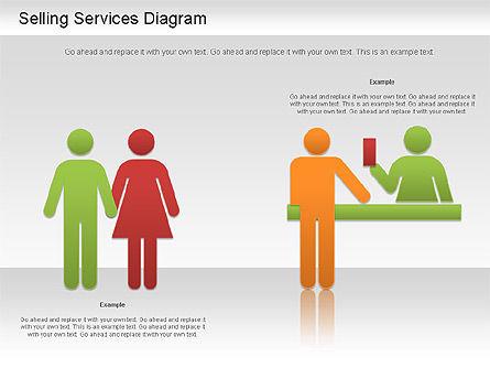 Selling Services Diagram, Slide 5, 01201, Business Models — PoweredTemplate.com
