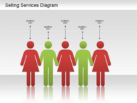 Selling Services Diagram, Slide 6, 01201, Business Models — PoweredTemplate.com
