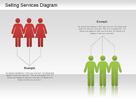 Selling Services Diagram, Slide 7, 01201, Business Models — PoweredTemplate.com