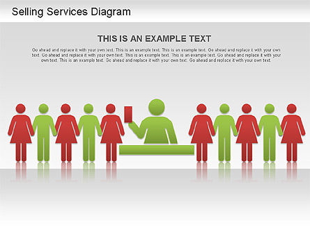 Selling Services Diagram, Slide 8, 01201, Business Models — PoweredTemplate.com