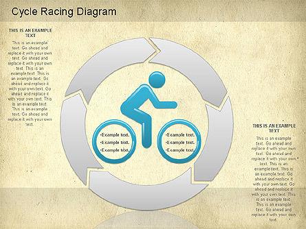 Cycle Racing Diagram, Slide 10, 01202, Business Models — PoweredTemplate.com