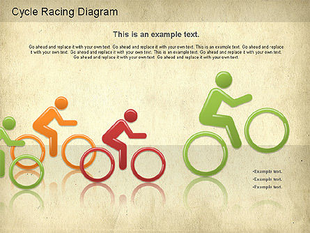 Cycle Racing Diagram, Slide 11, 01202, Business Models — PoweredTemplate.com
