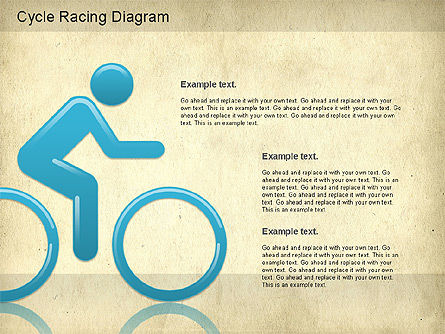 Cycle Racing Diagram, Slide 12, 01202, Business Models — PoweredTemplate.com