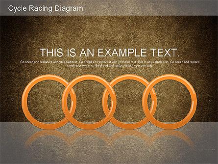 Cycle Racing Diagram, Slide 13, 01202, Business Models — PoweredTemplate.com