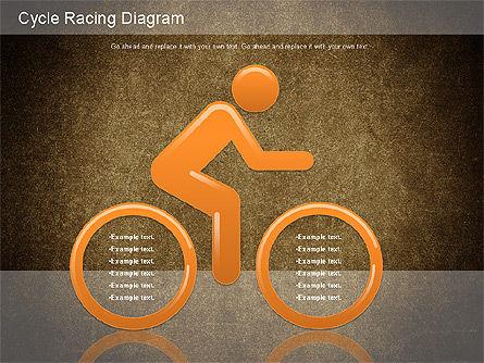 Cycle Racing Diagram, Slide 15, 01202, Business Models — PoweredTemplate.com