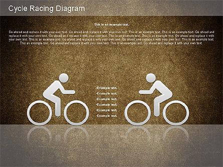 Cycle Racing Diagram, Slide 16, 01202, Business Models — PoweredTemplate.com