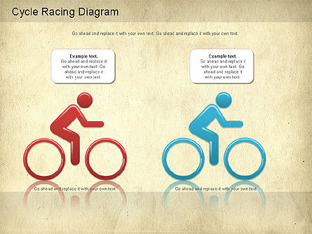 Cycle Racing Diagram, Slide 2, 01202, Business Models — PoweredTemplate.com