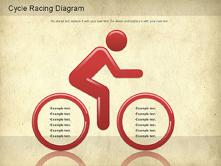 Cycle Racing Diagram, Slide 3, 01202, Business Models — PoweredTemplate.com