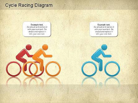 Cycle Racing Diagram, Slide 4, 01202, Business Models — PoweredTemplate.com