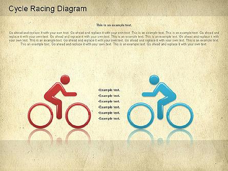 Cycle Racing Diagram, Slide 5, 01202, Business Models — PoweredTemplate.com