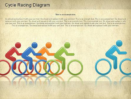 Cycle Racing Diagram, Slide 6, 01202, Business Models — PoweredTemplate.com