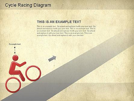 Cycle Racing Diagram, Slide 7, 01202, Business Models — PoweredTemplate.com
