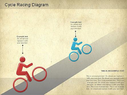 Cycle Racing Diagram, Slide 8, 01202, Business Models — PoweredTemplate.com