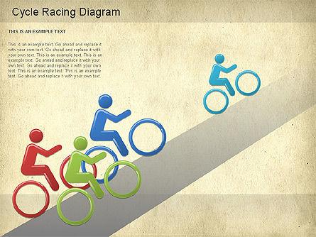 Cycle Racing Diagram, Slide 9, 01202, Business Models — PoweredTemplate.com