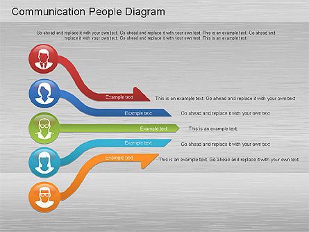 Process Diagrams: Communication People Diagram #01203