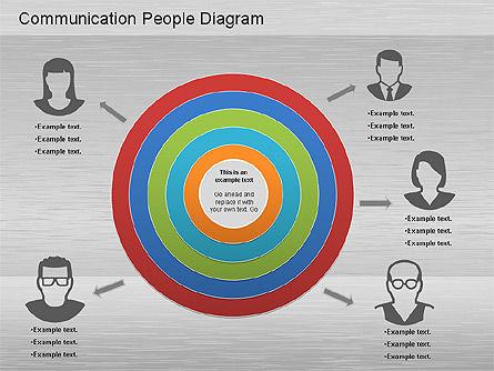 Communication People Diagram, Slide 10, 01203, Process Diagrams — PoweredTemplate.com