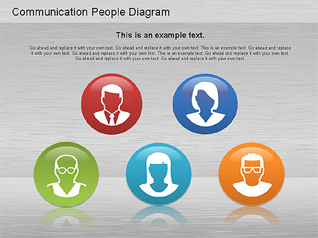 Communication People Diagram, Slide 11, 01203, Process Diagrams — PoweredTemplate.com