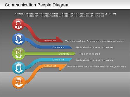 Communication People Diagram, Slide 13, 01203, Process Diagrams — PoweredTemplate.com