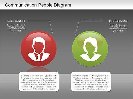 Communication People Diagram, Slide 15, 01203, Process Diagrams — PoweredTemplate.com