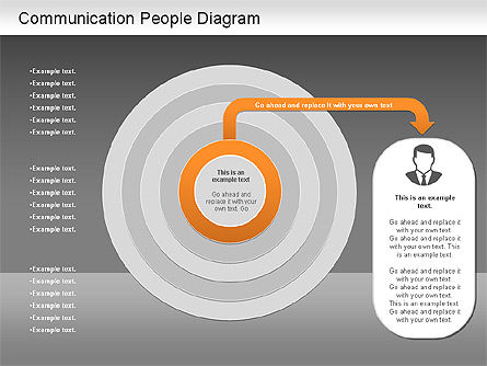 Communication People Diagram, Slide 16, 01203, Process Diagrams — PoweredTemplate.com