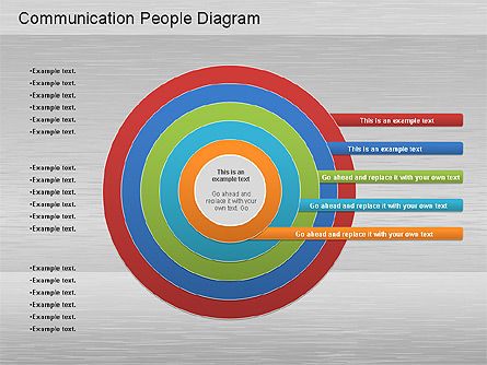 Communication People Diagram, Slide 2, 01203, Process Diagrams — PoweredTemplate.com