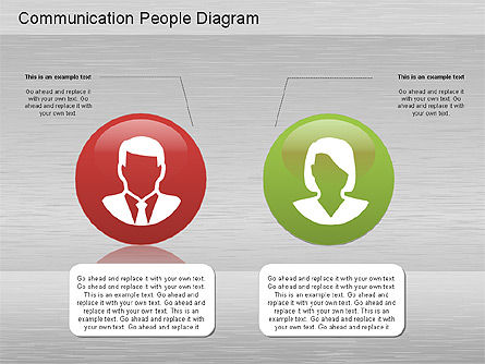 Communication People Diagram, Slide 3, 01203, Process Diagrams — PoweredTemplate.com