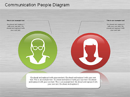 Communication People Diagram, Slide 4, 01203, Process Diagrams — PoweredTemplate.com