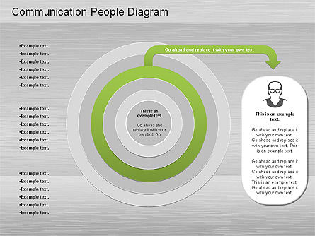 Communication People Diagram, Slide 7, 01203, Process Diagrams — PoweredTemplate.com