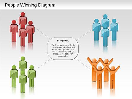 Winning Process Diagram, Slide 10, 01204, Process Diagrams — PoweredTemplate.com