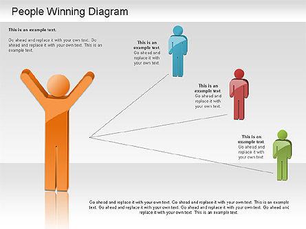 Winning Process Diagram, Slide 11, 01204, Process Diagrams — PoweredTemplate.com