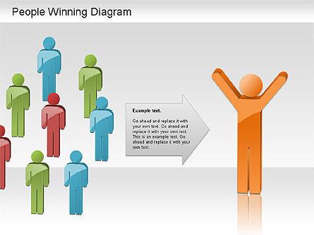 Winning Process Diagram, Slide 12, 01204, Process Diagrams — PoweredTemplate.com