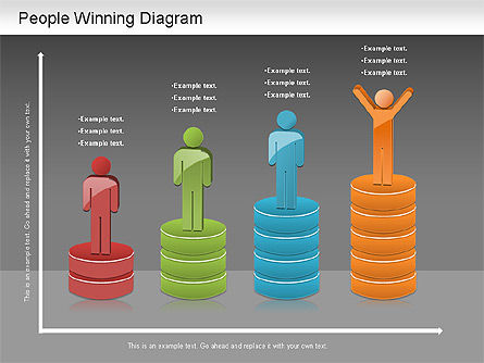 Winning Process Diagram, Slide 13, 01204, Process Diagrams — PoweredTemplate.com