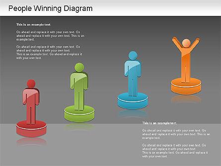 Winning Process Diagram, Slide 14, 01204, Process Diagrams — PoweredTemplate.com