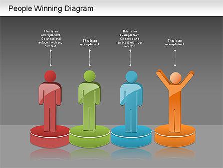Winning Process Diagram, Slide 15, 01204, Process Diagrams — PoweredTemplate.com