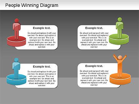 Winning Process Diagram, Slide 16, 01204, Process Diagrams — PoweredTemplate.com