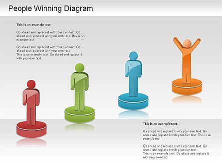 Winning Process Diagram, Slide 2, 01204, Process Diagrams — PoweredTemplate.com