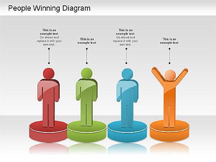 Winning Process Diagram, Slide 3, 01204, Process Diagrams — PoweredTemplate.com