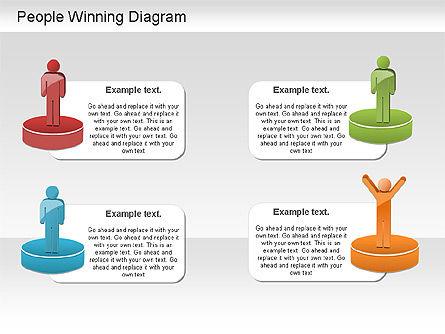 Winning Process Diagram, Slide 4, 01204, Process Diagrams — PoweredTemplate.com