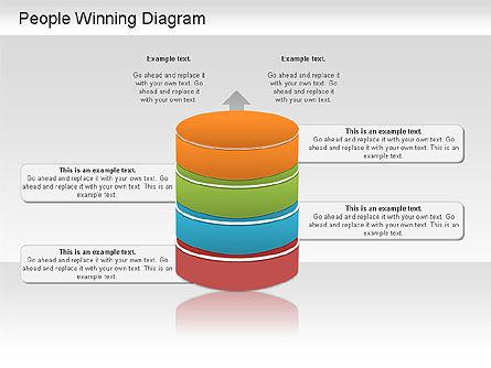 Winning Process Diagram, Slide 5, 01204, Process Diagrams — PoweredTemplate.com