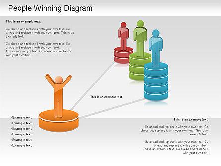 Winning Process Diagram, Slide 6, 01204, Process Diagrams — PoweredTemplate.com