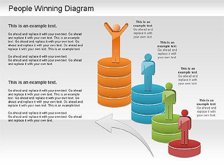 Winning Process Diagram, Slide 7, 01204, Process Diagrams — PoweredTemplate.com