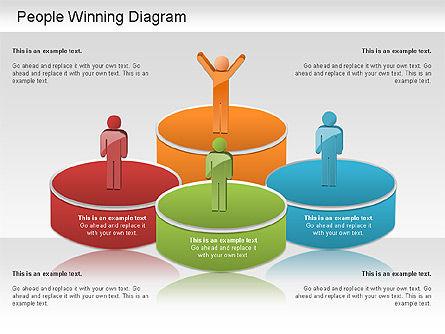 Winning Process Diagram, Slide 8, 01204, Process Diagrams — PoweredTemplate.com