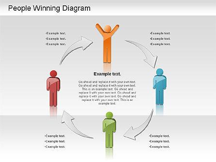 Winning Process Diagram, Slide 9, 01204, Process Diagrams — PoweredTemplate.com