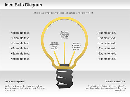 Idea Bulb Diagram, 01206, Business Models — PoweredTemplate.com