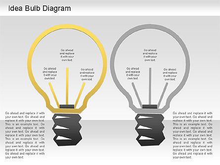 Idea Bulb Diagram, Slide 2, 01206, Business Models — PoweredTemplate.com