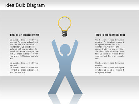 Idea Bulb Diagram, Slide 4, 01206, Business Models — PoweredTemplate.com