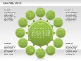 Timelines & Calendars: 2013 PowerPoint Calendar #01207