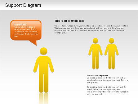 Support Diagram, Slide 2, 01208, Business Models — PoweredTemplate.com